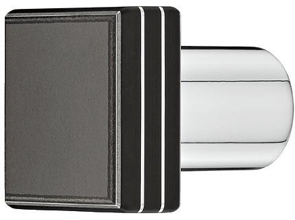 Image of   Knopgreb, Højtrykslaminat, overflade: sort 25x25 mm