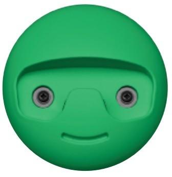 Image of   Garderobekrog til børn i kunststof: Grøn