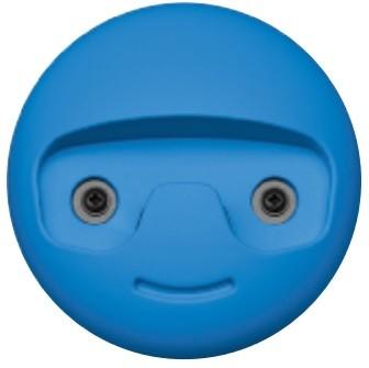 Image of   Garderobekrog til børn i kunststof: Blå