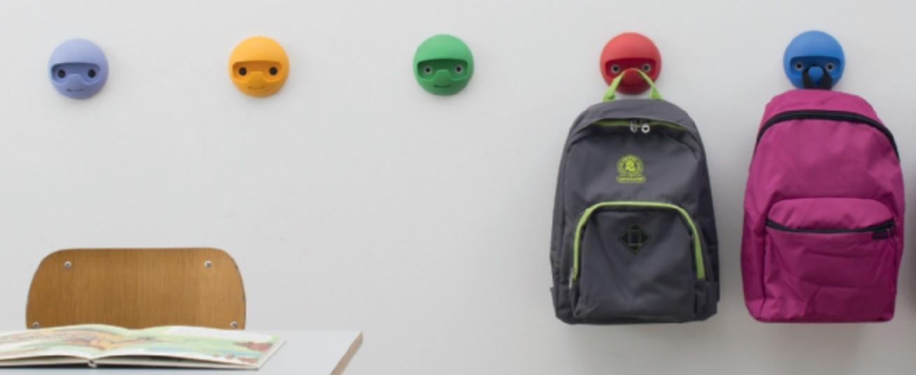 Image of   Garderobekrog til børn i kunststof: Rød