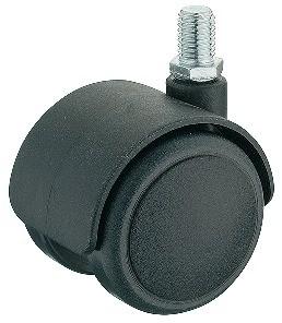Image of   Møbelhjul, simpel sort, M10 gevindtap, 50 kg