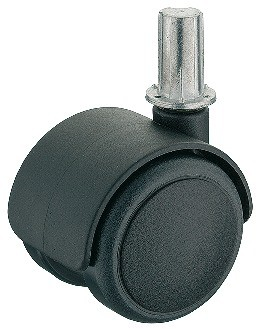 Image of   Møbelhjul, simpel sort, ipresning, 50 kg