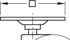 Image of   Møbelhjul - med krom-skærm og bremse, montageplade