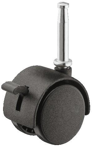 Image of   Møbelhjul - med skærm og bremse, ipresning