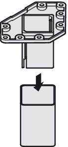 Billede af Spisebordsben, kvadratisk lige, alufarvet