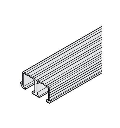 Dobbeltløbeskinne til top - 16 mm not - Aluminium