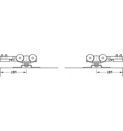Häfele Slido D-Line 11 - skydedørsbeslag