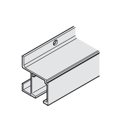 Skinne til Häfele Slido - Til væg montering - 47,5x47 mm