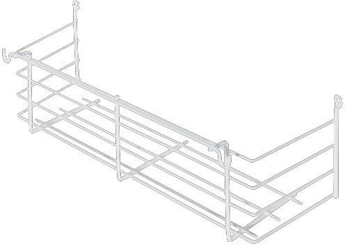 Indbygningskurv til påskruning - 335x115x100 - Hvid