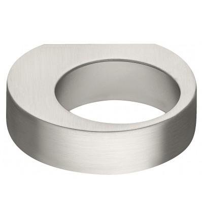 Rundt knopgreb i børstet forniklet zinklegering - Häfele Design H2150