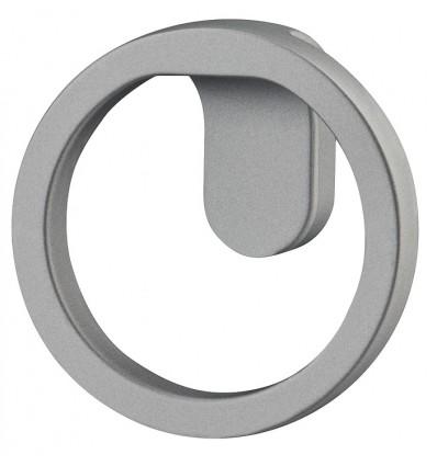Unikt rundt knopgreb i grå zinklegering - Häfele Design H2160