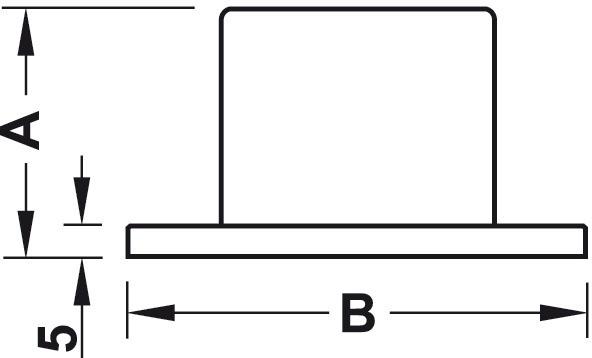 Gelænderholder - endestykke - til påsætning - stålfarvet