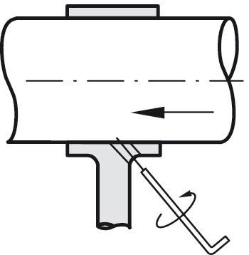 Rørholder - midterbeslag - messingfarvet