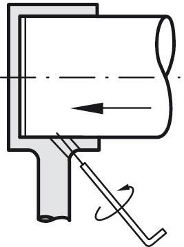Rørholder - endebeslag - messingfarvet