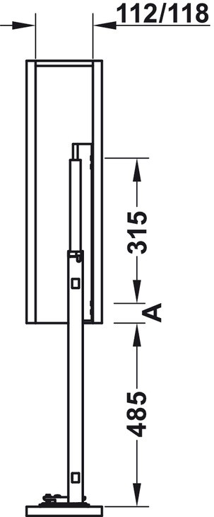 Häfele - underskab-frontudtræk - antracit