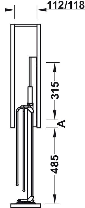 Häfele - underskab-frontudtræk med viskestykkeholder - antracit