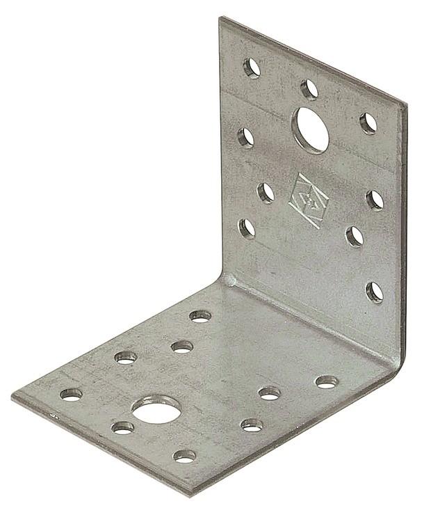 Vinkelbeslag i stål. 90x65 - 50 stk.