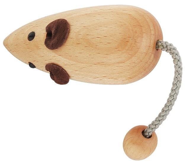Image of   Greb, formet som mus i lakeret bøg.