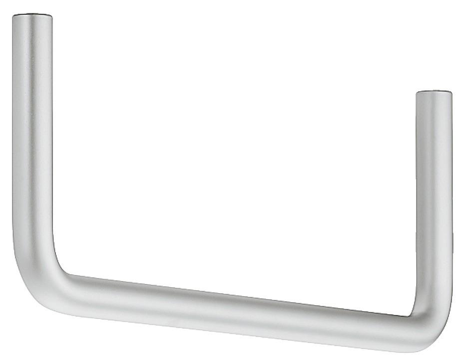Garderobebøjle i mat stål, 180° vinkel