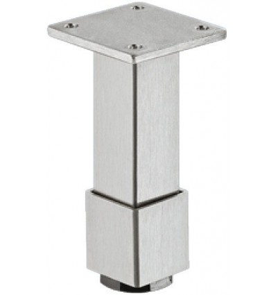 Møbelben, firkantet med plade. Højdejustering og manchet