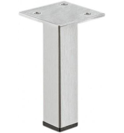 Møbelben, firkantet med forskudt monteringsplade