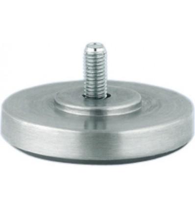 Stillefod M8 - Rund mat aluminium - Ø65 mm