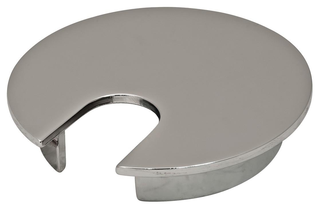 Kabelgennemføring - Poleret krom - Løst siddende - Ø76 mm