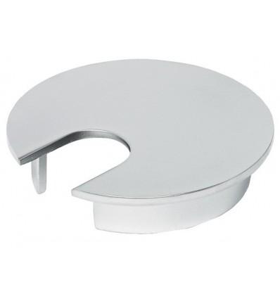 Kabelgennemføring - Mat krom - Løst siddende - Ø76 mm