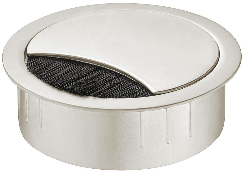 Kebelgennemføring - Rund - Rustfri look - Højde: 21 mm