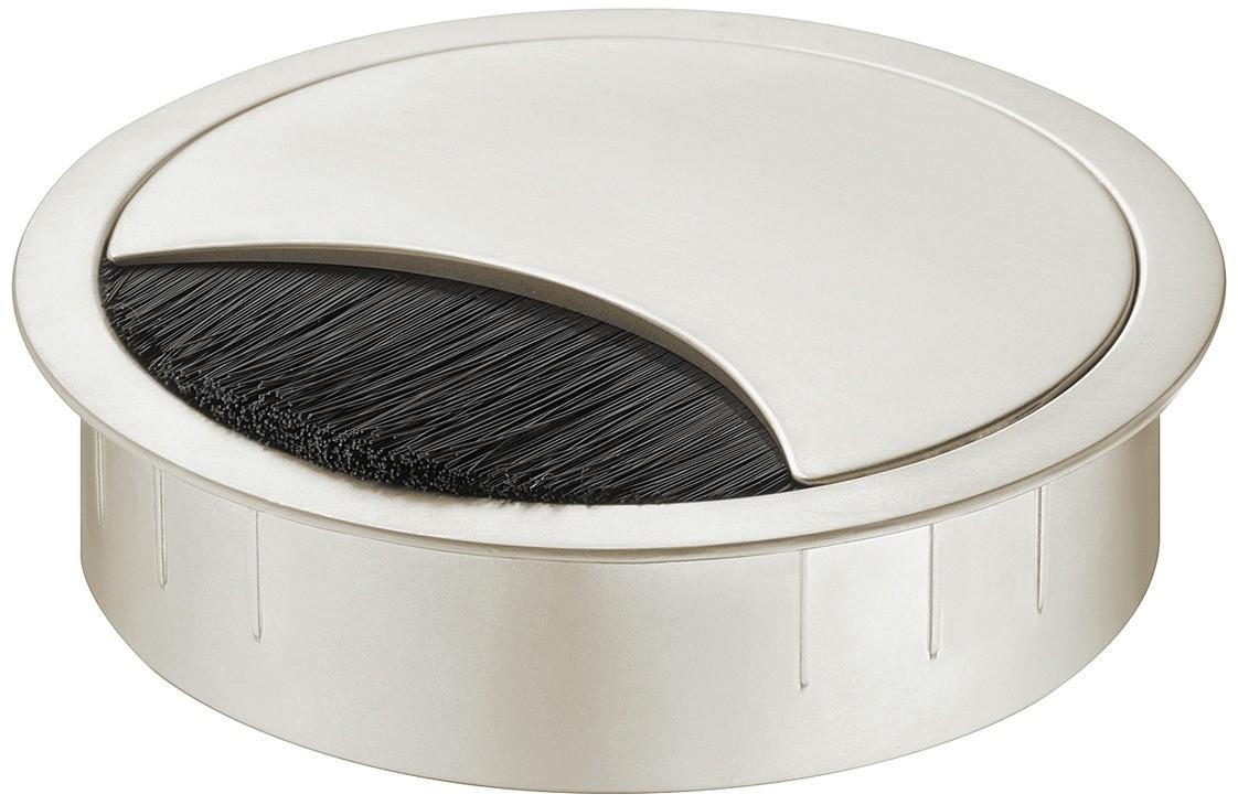 Kebelgennemføring - Rund - Rustfri look - Højde: 12 mm