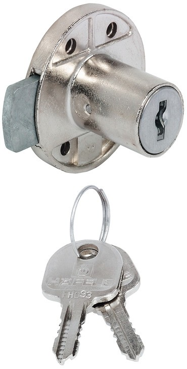 Ifræsningslås - Dornmål: 20 mm - Forskelligtlukkende - Häfele Minilock
