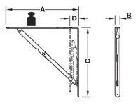 Hyldeknægt Hvid - Sammenklappelig - 30-60 kg - 2 stk.
