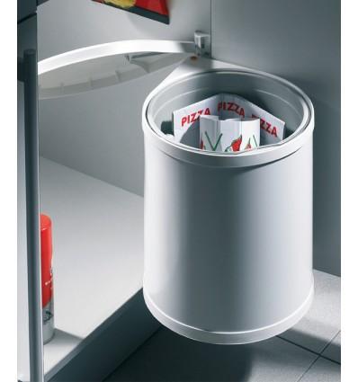 Affaldsspand - Hailo Mono - 15 liter - Hvid