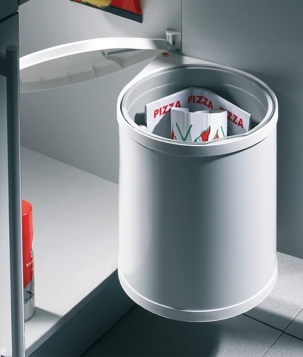 Image of   Affaldsspand - Hailo Mono - 15 liter - Hvid