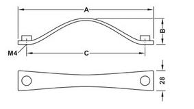 Image of   Greb Zinkegering, Model H1330 - Mat, sort, brugt look