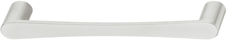 Image of   Greb med runde sokler og bløde linjer foran i rustfrit stål, mat børstet