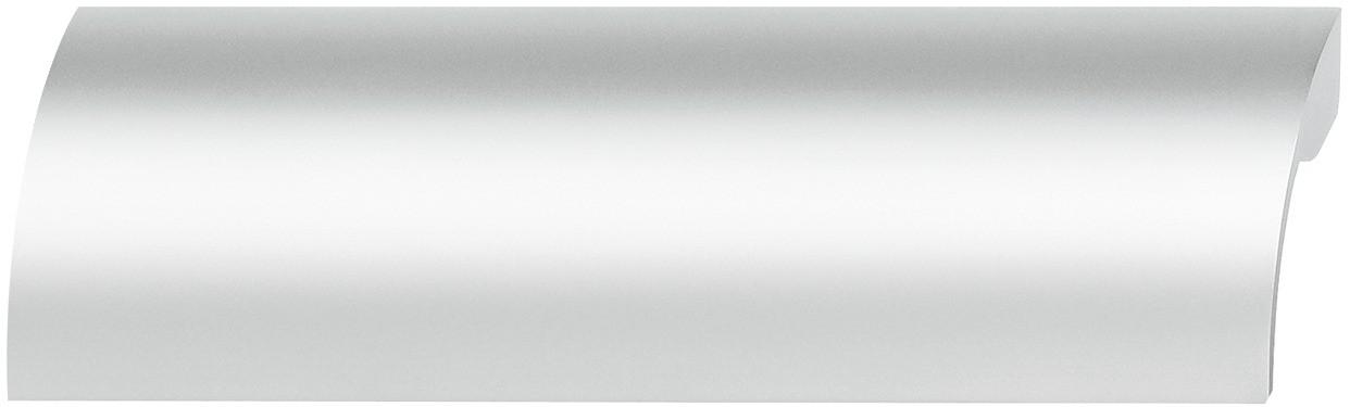Image of   Nedad buede gribeliste, aluminium, sølvfarvet eloxeret