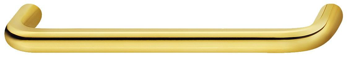 Billede af Stål greb, Klassisk form, guldfarvet, poleret, 106-138 mm