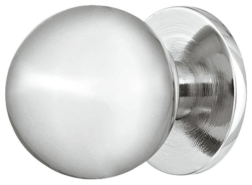 Image of   Knopgreb, rund knop, messing, forkromet poleret