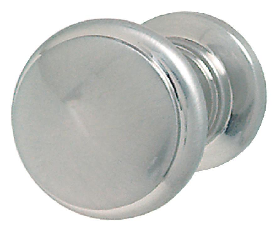 Image of   Enkelt knopgreb, forniklet mat messing