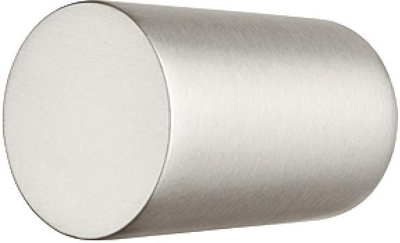 Image of   Ensformet knopgreb zinklegering, forniklet børstet