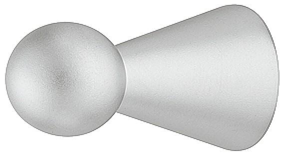 Knopgreb formet som spillebrik i forkromet mat  zinklegering
