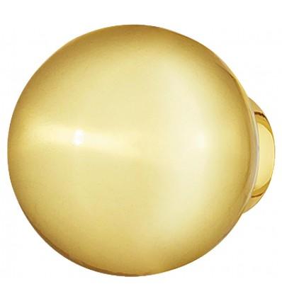 Guldfarvet kugle knopgreb i poleret zinklegering
