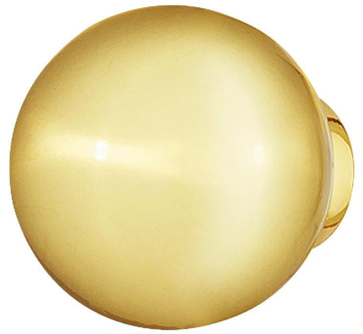Image of   Guldfarvet kugle knopgreb i poleret zinklegering