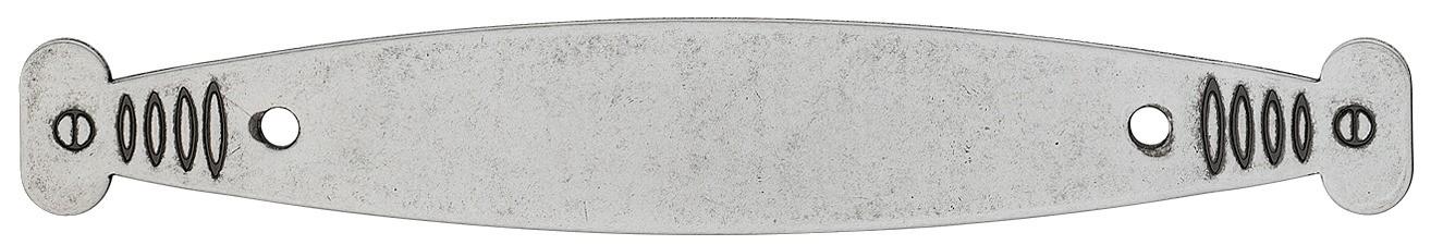Image of   Messing håndtagsplade i fortinnet antik med et brugt look