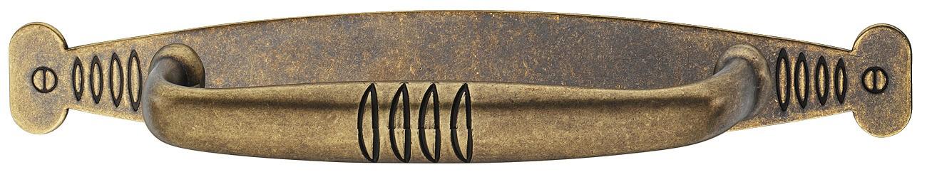 Image of   Messing håndtagsplade i brun antik med et brugt look