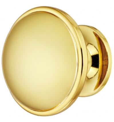 Svampeformet knopgreb i guldfarvet poleret zinklegering
