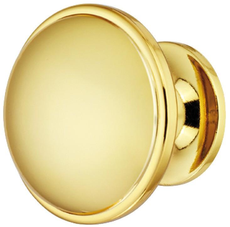 Image of   Svampeformet guldfarvet knopgreb i poleret zinklegering