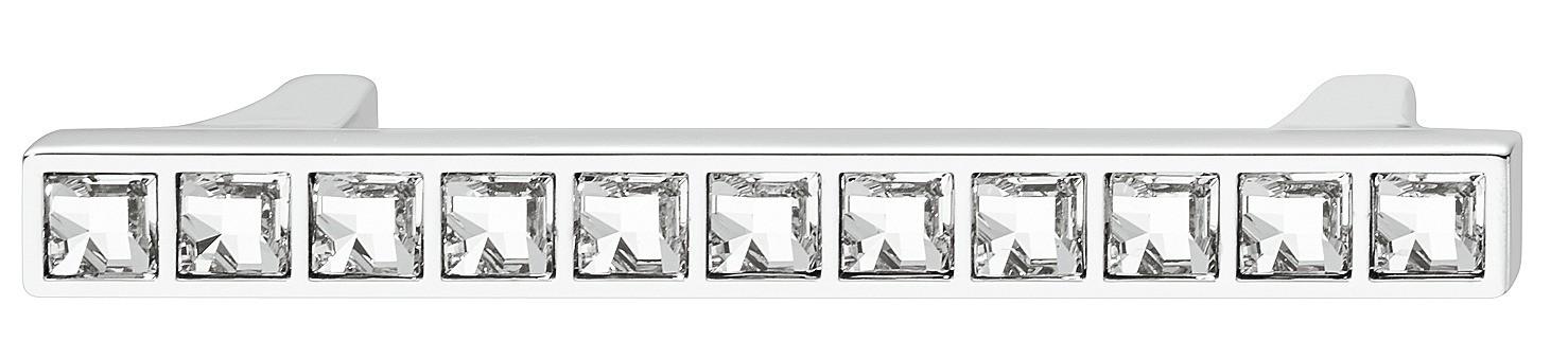 Image of   Fornikkel og poleret zinklegering greb med krystaller