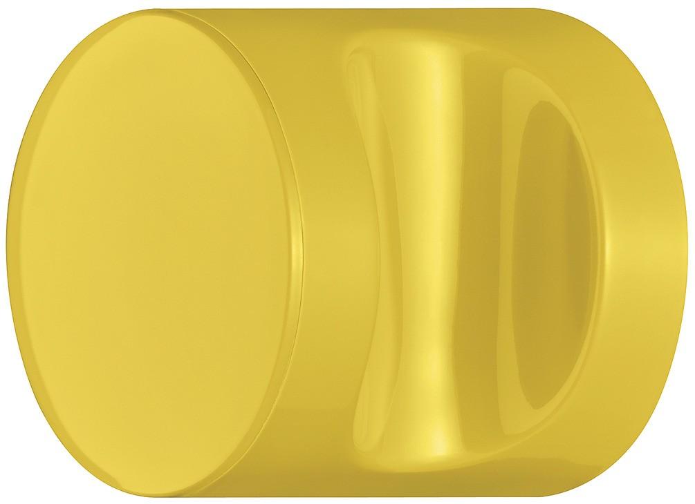 Image of   Knopgreb, rund med fordybning, sennepsgul, polyamid